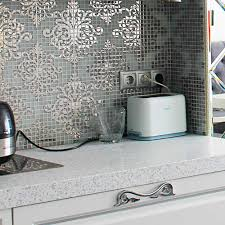 Mirror Tile Stickers - Kitchen Wall Tile Crystal Glass Mosaic Tiles Puzzle  Mirror Surface Tile Stickers