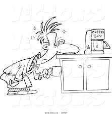 vector of a cartoon man patiently waiting for a coffee maker coloring page outline by ron leishman 22727 word coloring page generator coloring pages for kids and all ages on printable form maker