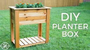 diy raised planter box with hidden