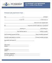 Free 35 Loan Agreement Forms Pdf