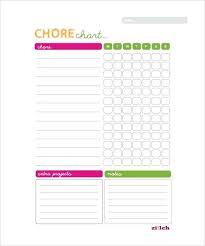 Calendar Chore Chart Template Weekly Chart Template Andrewdaish Me