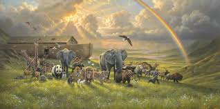 when i was commissioned to paint noah s ark i was at first intimidated by the daunting task of trying to capture such an epic explosion of renewed life on