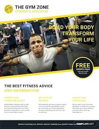 Word Flyer Template Download Printable Fitness Flyers Word Free Premium Templates Fitness Flyer