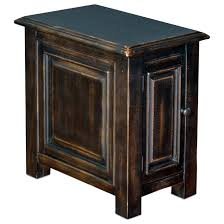 side table with door sunny designs chair in weathered black finish opentable glass white