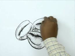 The lines should curve toward each other slightly. How To Draw A Coffee Bean Youtube