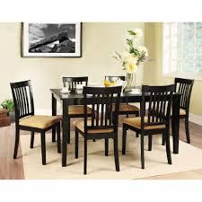 black kitchen table set mesmerizing weston home tibalt 7 piece rectangle black dining table set 60 in