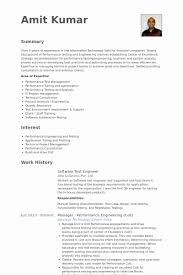 Drive Test Engineer Sample Resume New Sample Resume For Performance Test Engineer 40 Limitedcompanyco