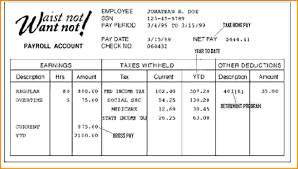 Pay Stub Template Fake Free Example Of Calculator Excel
