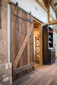 take comfort in the bedroom by including sliding barn doors