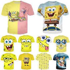 <b>Men</b> Women <b>SpongeBob SquarePants 3D</b> Print Casual T-Shirts ...