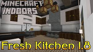 Minecraft Furniture Kitchen Minecraft Indoors Interior Design Fresh Kitchen 18 Youtube