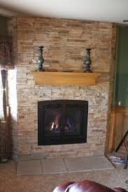 cover brick fireplace with glass tile ideas