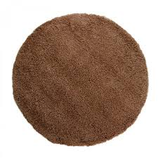4cm gy plain chocolate circle rug by flair rugs 1
