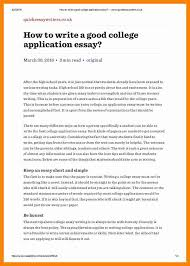 how to write a good college application essay new hope stream  how to write a good college application essay how to write a good college application essay quickessaywriterscouk 1 638 jpg cb 1461422707 caption