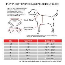 Puppia Soft Dog Harness Sizing Chart Puppia Soft Dog Harness Camouflage Medium