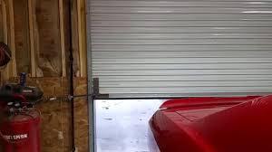 roll up garage door openerRoll up door with garage door opener  YouTube