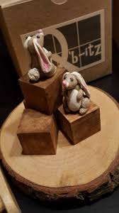 Miniature Tiny Bunny Rabbit Handcrafted Mini Perfect for Q'b-itz, Fairy  Gardens and Dollhouses