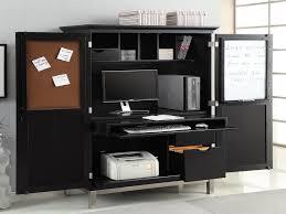 traditional hidden home office. Hidden Printer Cabinet Inspirational Enchanting Dark Brown Oak Wood Computer Desk Hutch Traditional Home Office