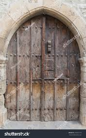 Castle Door Old Wooden Door Castle Stock Photo 442631419 ...