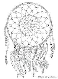 Dream Catcher Coloring Pages Coloring Book For Adults Colors Of Calm