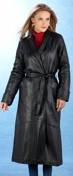 home las full length coat in premium lambskin black