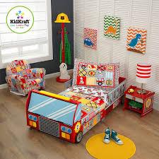 Amazon Com Kidkraft Toddler Fire Truck Bedding Toys Games