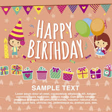 free happy birthday template happy birthday card template vector free download