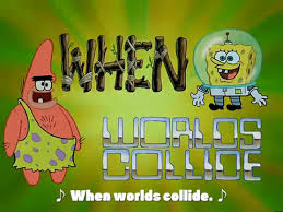 Image result for worlds will collide gif