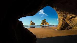 Wharariki Beach Cave, Archway Islands ...