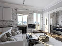 the brick living room furniture. Living Room, Room Awesome White Brick Wall Theme Together With Leather Sofa And The Furniture E