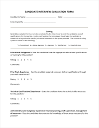 Interview Evaluation Form 24 Interview Evaluation Form Examples Samples In PDF 11