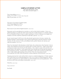 Job Application Letter Of Intent Example Sample Letter Of Intent