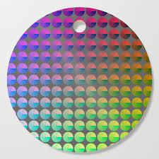 Rainbow Pie Chart Rainbow Pie Chart Pattern Cutting Board By Anjchang