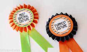 Halloween Costume Awards Make Your Own Award Ribbons Diy Halloween Costume Awards Paper Crush