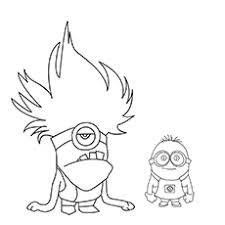Animation/movies coloring pages, coloring pages for boys, coloring pages for girls, despicable me coloring pages, kids coloring pages 0. 35 Cute Minions Coloring Pages For Your Toddler