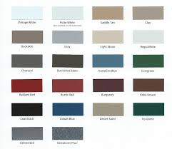 Central States Metal Color Chart Metal Roofing Supply Alabama Steel Supply Inc Can Provide