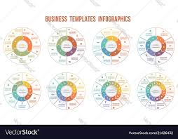 Circle Arrows Infographics Templates For 3 4 5 6