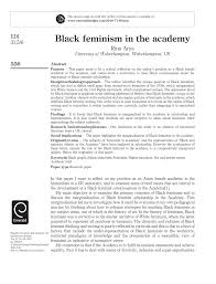 black feminism in the academy pdf available