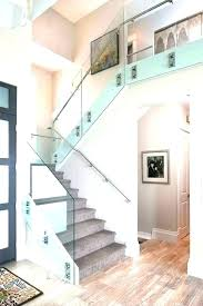 glass stair railings railing cost to install per foot