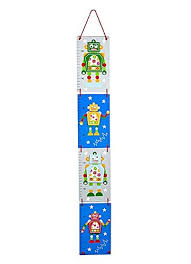 Boys Height Chart Uk Height Chart For Boys Bedroom Or Baby Nursery Blue Robot