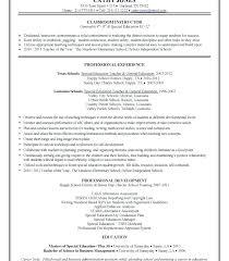 Samples Of Resumes For Teachers Sample Resume Of Teachers Example