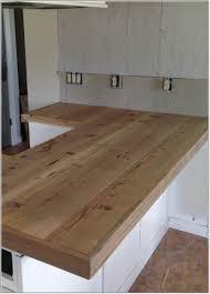 diy wood plank kitchen countertops