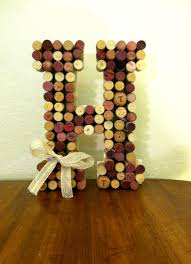 Wine Themed Decor Wine Cork Letter H Wine Theme Shower Wine Cork Home Decor By