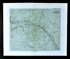 Details About 1892 Stieler Map North Sky Star Chart Sirius Polaris Cassiopeia Zodiac Astrology