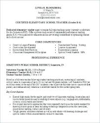 Elementary School Teacher Resume Samples Free Template – Rigaud