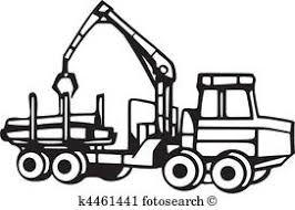 工事用重機 クリップアート切り張りイラスト絵画集 K10153335