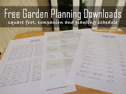 Garden Layout Template Vegetable Garden Planner Printables