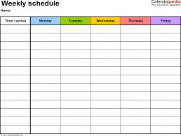 Excel 15 Minute Schedule Template Free Employee And Shift Schedule Templates Time Template Online