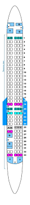 Delta Boeing Douglas Md 80 Seating Chart Seat Map Spanair Mcdonnell Douglas Md 82 Seatmaestro