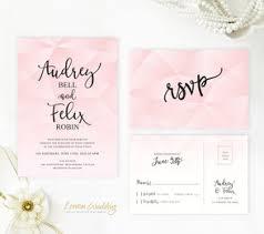 Pink Wedding Invitations Lemonwedding